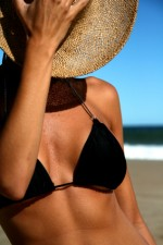 Tan with straw hat